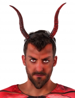 Teufel-Haarreif Teufelshörner Halloween-Accessoire rot