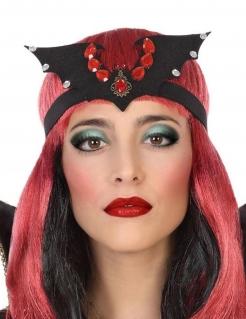 Fledermaus-Kopfschmuck Halloween-Accessoire schwarz-rot