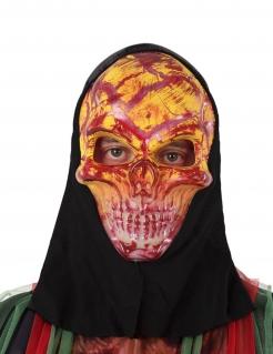 Blutige Skelett-Maske für Erwachsene gelb-rot-schwarz