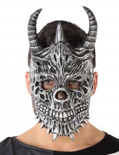 Drachen-Maske Halloween-Maske grau