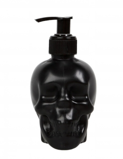 Totenkopf-Seifenspender Deko schwarz