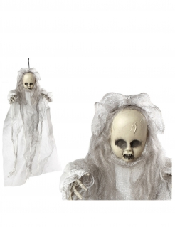 Puppen-Hängedeko Halloween-Dekoration weiss-grau 50cm