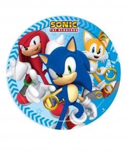 Kleine Sonic™-Pappteller Tischdeko Partydeko 8 Stück bunt 18 cm