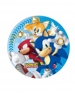 Sonic™-Pappteller Party-Dekoration 8 Stück bunt 23 cm