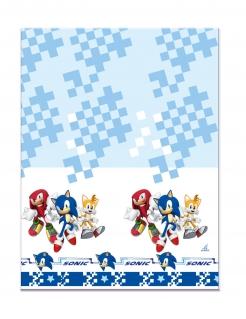 Sonic™-Tischdecke Videospiel-Deko für Kindergeburtstage blau-weiss 120x180cm