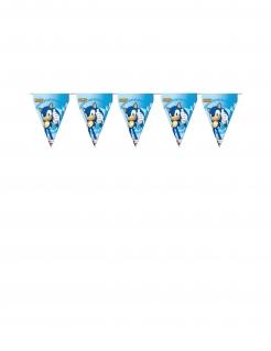 Sonic™-Girlande Wimpelgirlande Partydeko blau 3 m x 30 cm