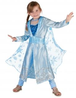 Schneekönigin-Kostüm Kinder-Karneval-Karneval-Kostüm 3-teilig blau