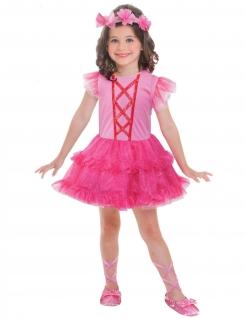 Süße Ballerina Kinder-Kostüm für Mädchen pinkfarben