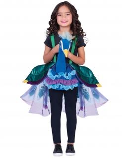 Süßer Pfau Kinder-Kostüm für Mädchen bunt