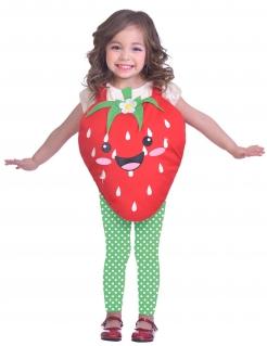 Erdbeer-Kostüm für Kinder rot-grün