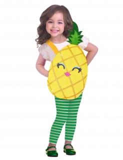 Ananas-Kostüm für Kinder gelb-grün