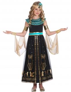 Ägypterin-Kostüm für Mädchen Ägypter-Kleid mit Ornamenten schwarz-gold-türkis