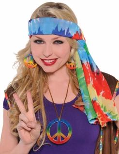 Hippie Stirnband für Erwachsene Tie-Dye bunt