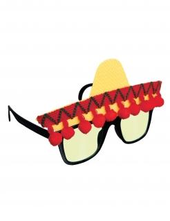 Fiesta Mexicana Brille für Erwachsene bunt