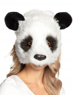 Panda-Maske Tiermaske schwaz-weiss