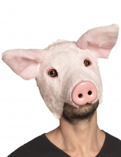 Schweine-Maske Tier-Maske Karneval rosa