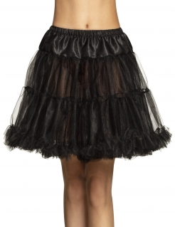 Petticoat für Damen Unterrock Accessoire schwarz