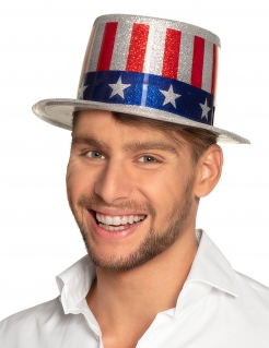Zylinder USA Flagge Kostüm-Accessoire