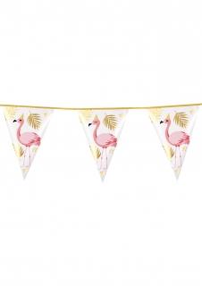 Partygirlande Flamingos und Palmen bunt 4 m