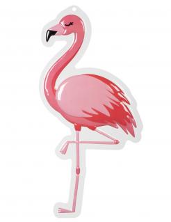 Flamingo-Wanddeko pink-weiß 50 x 30 cm