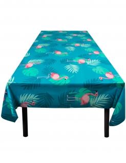 Abwischbare Tischdecke Flamingo-Tischdecke Partydeko grün-pink 130 x 180 cm