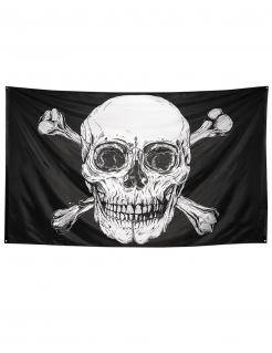 Jolly Roger-Piratenflagge Raumdeko schwarz-weiß 300 x 200 cm