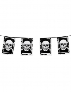 Piraten-Wimpelgirlande Jolly Roger 30 x 20 cm