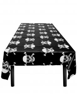 Jolly Roger-Tischdecke Kindergeburtstags-Deko schwarz-weiss 130x180 cm