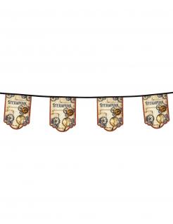 Steampunk-Wimpelgirlande Partydeko 11 Wimpel bunt 4 m