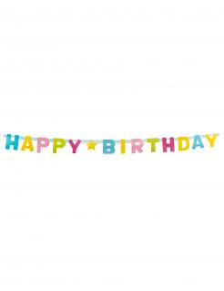 Happy Birthday Geburtstags-Girlande bunt 150 cm