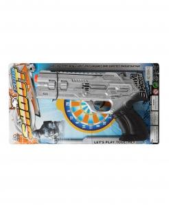 Polizei-Pistole grau-schwarz