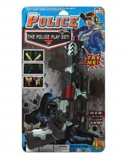 Spielzeug-Pistole mit Tarn-Motiv für Soldaten und Polizisten schwarz-grün