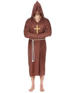 Mönch-Kostüm in Übergrösse für Herren Karnevalskostüm braun