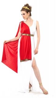 Römerin-Kostüm in Übergrösse Plus-Size-Kostüm Karnevalskostüm in grossen Grössen rot-weiss-gold