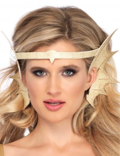 Meerjungfrauen-Kopfschmuck mit Ohren Accessoires gold