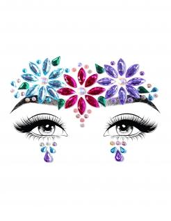 Strass-Steine für das Gesicht selbstklebend Make-up lila-pink