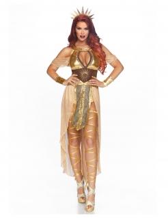 Sonnenkönigin-Kostüm für Damen Karnevalskostüm gold