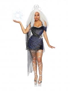 Mond-Magierin-Kostüm Zauberin-Kostüm dunkelblau-schwarz