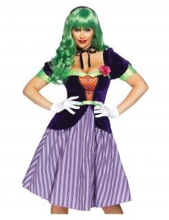 Berühmter Psychoclown Damenkostüm lila-grün