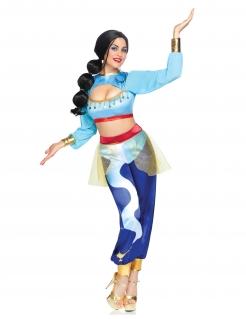 Dschinnie-Deluxekostüm für Damen Faschingskostüm blau