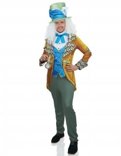 Hutmacher-Kostüm für Herren Karnevalskostüm blau-gelb