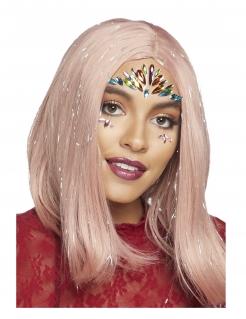 Schmucksteine für das Gesicht für Erwachsene Make-up Festival bunt