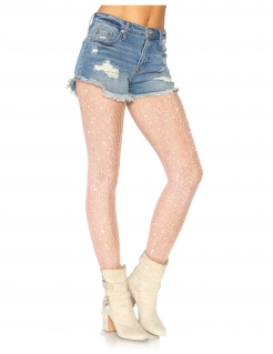 Gehäkelte Deluxe-Strumpfhose für Damen Accessoire roségold