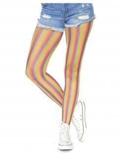 Regenbogen Damenstrumpfhose bunt