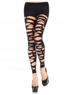 Leggings für Damen zerschnitten Accessoire schwarz