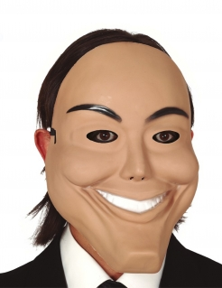 Psychopathen-Maske Grusel-Maske Halloween haut-weiss