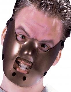 Kannibalen-Maske Halloween-Maske braun
