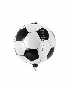 Fussball-Luftballon rund Dekoration schwarz-weiss 40 cm