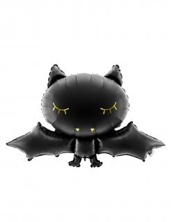 Halloween-Luftballon Schlafende Fledermaus schwarz 80 x 52 cm