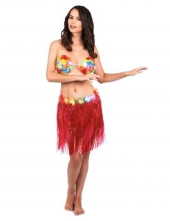 Hawaii-Rock mit Blüten rot-bunt 45cm